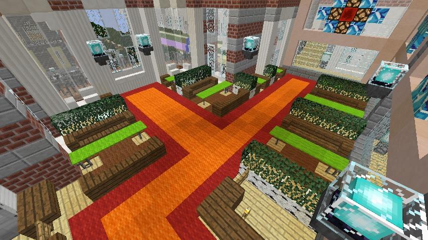 Minecrafterししゃもがマインクラフトで作った中央駅の内装を紹介する13