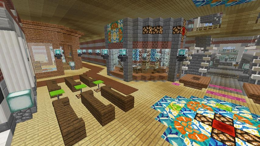 Minecrafterししゃもがマインクラフトで作った中央駅の内装を紹介する5