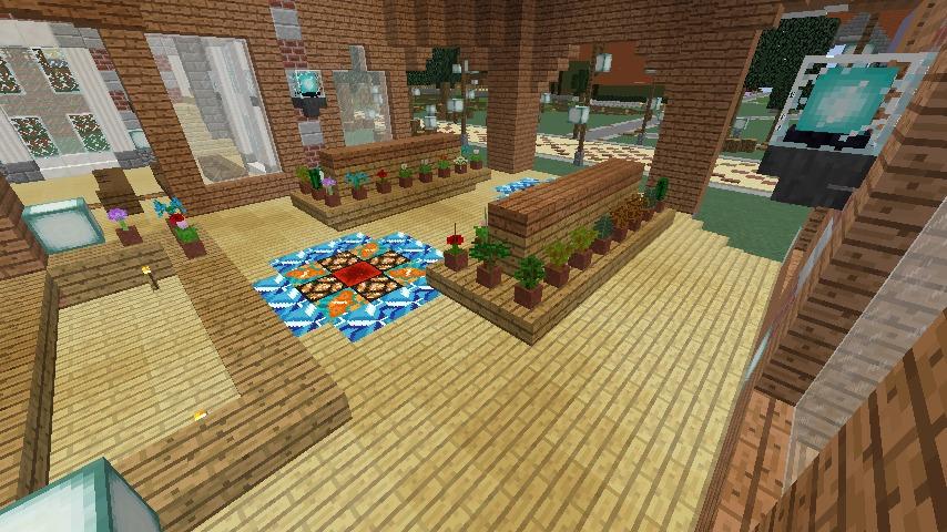 Minecrafterししゃもがマインクラフトで作った中央駅の内装を紹介する6