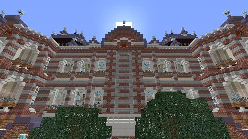 Minecrafterししゃもがマインクラフトで作った中央駅の内装を紹介する2