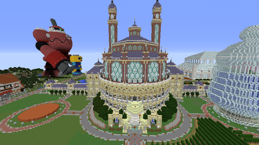 Minecrafterししゃもがマインクラフトでカエルの彫像を作る1