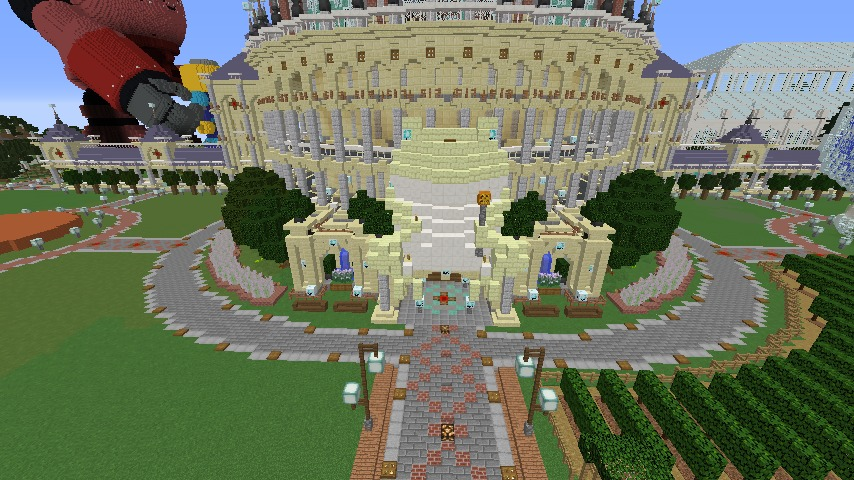 Minecrafterししゃもがマインクラフトでカエルの彫像を作る2