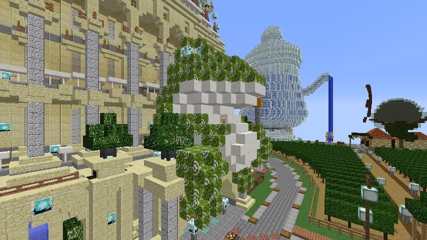 Minecrafterししゃもがマインクラフトでカエルの彫像を作る5