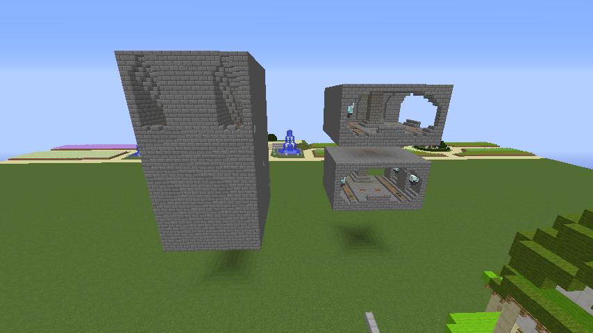 Minecrafterししゃもがマインクラフトで駅同士をつなぐ線路ユニットをつくる4
