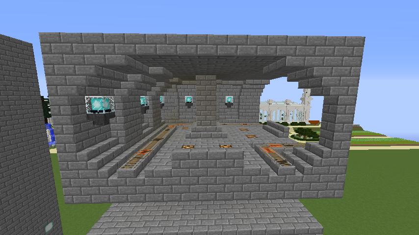 Minecrafterししゃもがマインクラフトで駅同士をつなぐ線路ユニットをつくる8