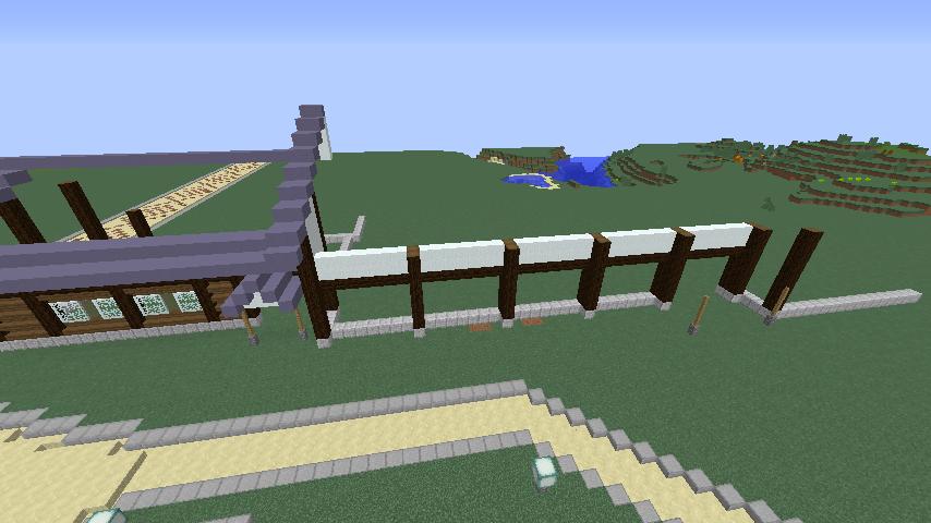Minecrafterししゃもがマインクラフトでぷこの手線の4駅目を建築する2