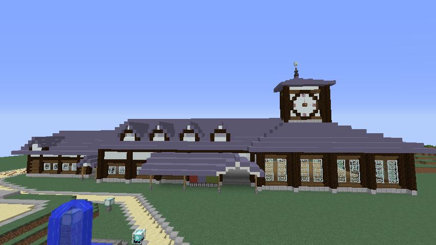 Minecrafterししゃもがマインクラフトでぷこの手線の4駅目を建築する4