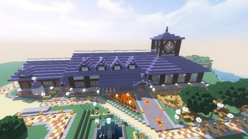 Minecrafterししゃもがマインクラフトでぷこの手線の4駅目を建築する13