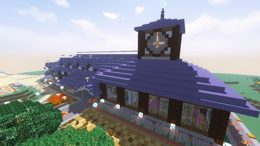 Minecrafterししゃもがマインクラフトでぷこの手線の4駅目を建築する15