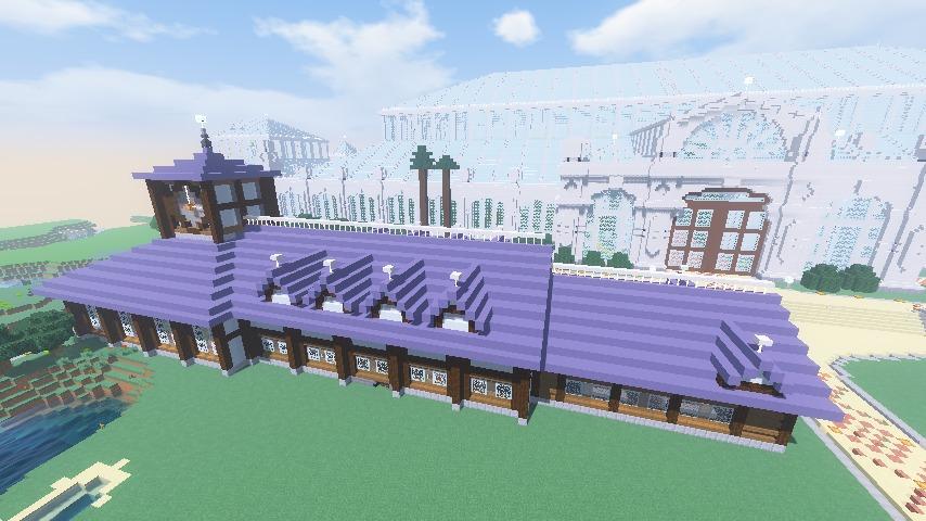Minecrafterししゃもがマインクラフトでぷこの手線の4駅目を建築する16