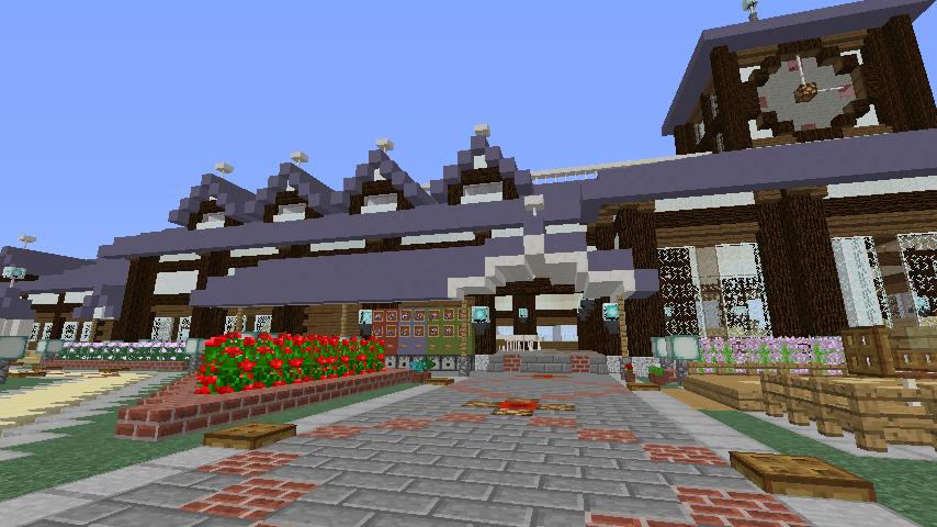 Minecrafterししゃもがマインクラフトでぷこの手線の4駅目を建築する7