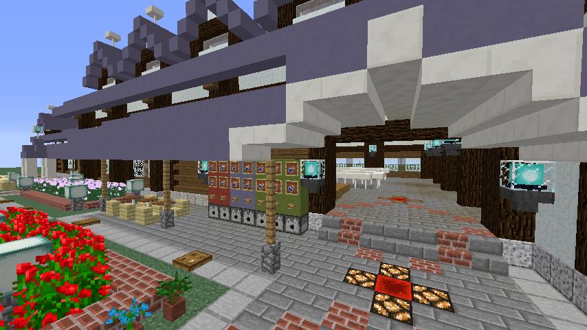 Minecrafterししゃもがマインクラフトでぷこの手線の4駅目を建築する8