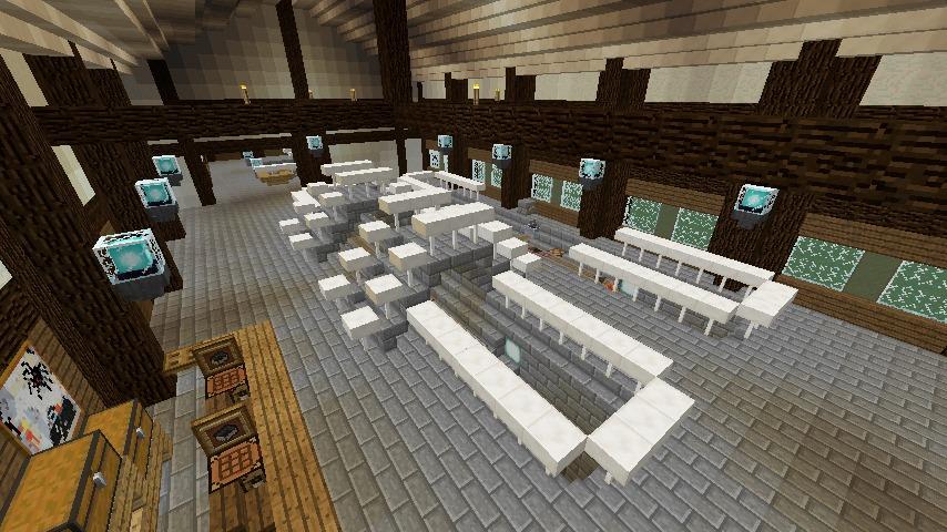 Minecrafterししゃもがマインクラフトでぷこの手線の4駅目を建築する9