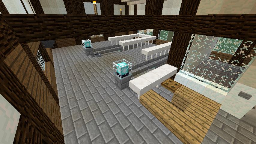 Minecrafterししゃもがマインクラフトでぷこの手線の4駅目を建築する12