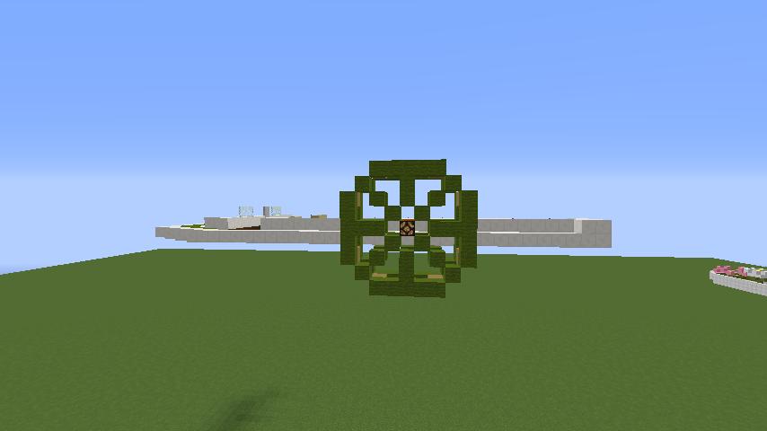 Minecrafterししゃもがマインクラフトでぷっこ村の新たな港を建設し、小型フェリーを浮かべる3