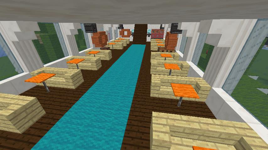 Minecrafterししゃもがマインクラフトでぷっこ村の新たな港を建設し、小型フェリーを浮かべる8