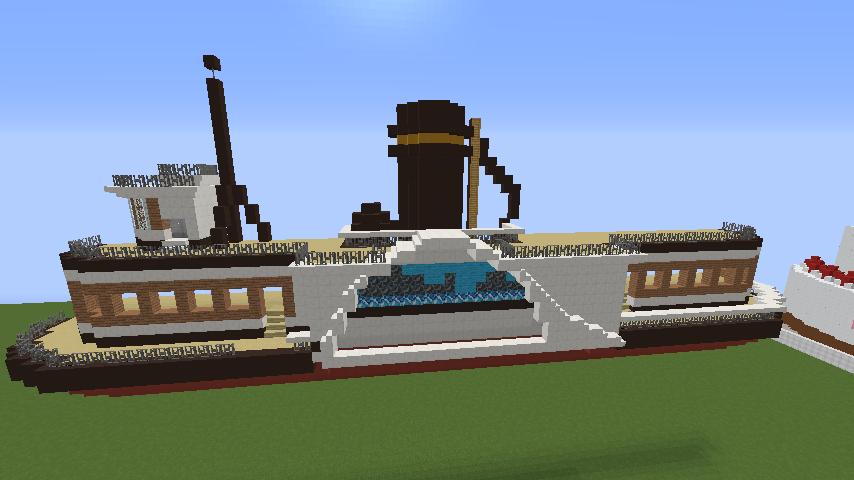 Minecrafterししゃもがマインクラフトでぷっこ村観光客のお迎え用フェリーを作る1
