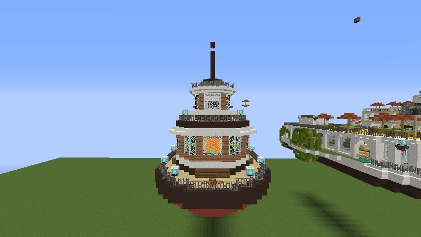 Minecrafterししゃもがマインクラフトでぷっこ村観光客のお迎え用フェリーを作る5
