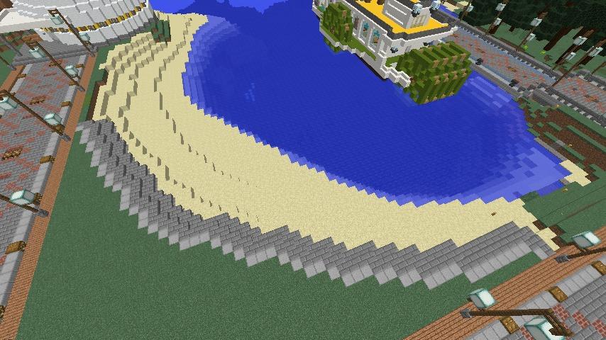 Minecrafterししゃもがマインクラフトで南港に灯台とビーチを作る3