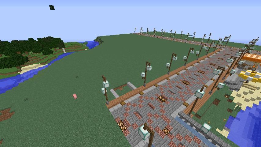 Minecrafterししゃもがマインクラフトで南港に旧御所水道ポンプ室をモデルにしたチケット売り場を作る1