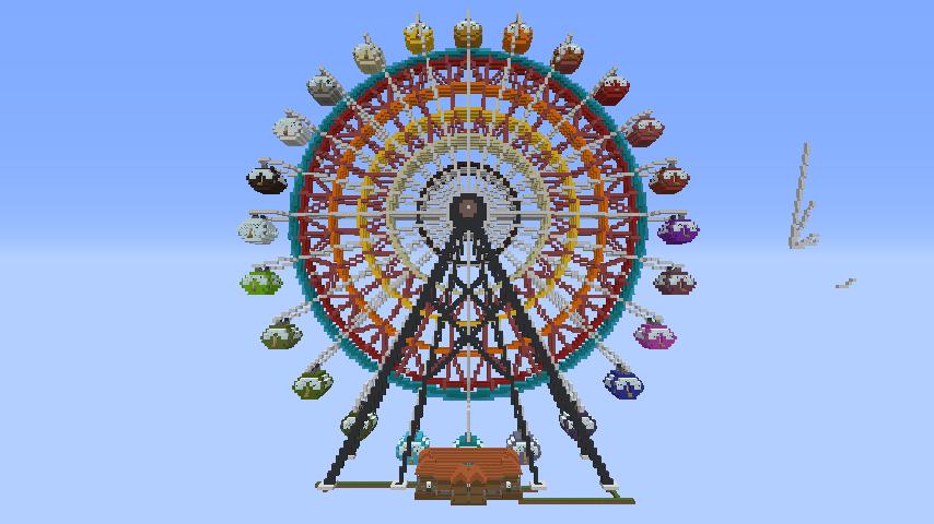 Minecrafterししゃもがマインクラフトで南港に大観覧車をつくる6