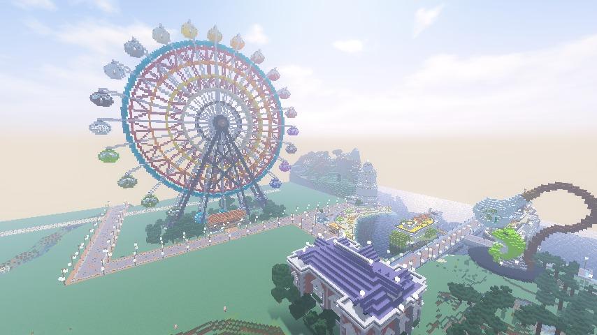 Minecrafterししゃもがマインクラフトで南港に大観覧車をつくる7