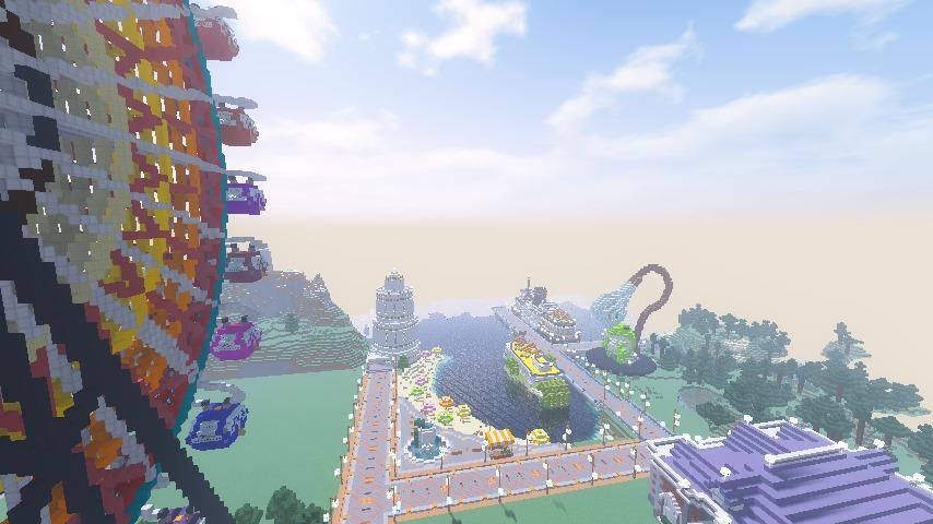 Minecrafterししゃもがマインクラフトで南港に大観覧車をつくる11
