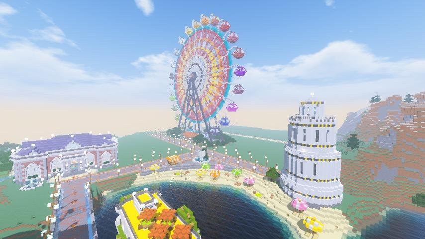 Minecrafterししゃもがマインクラフトで南港に大観覧車をつくる8