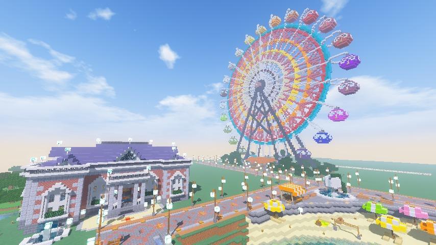 Minecrafterししゃもがマインクラフトで南港に大観覧車をつくる10