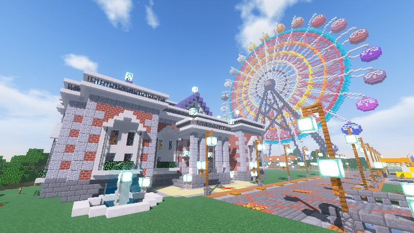 Minecrafterししゃもがマインクラフトで南港に大観覧車をつくる9
