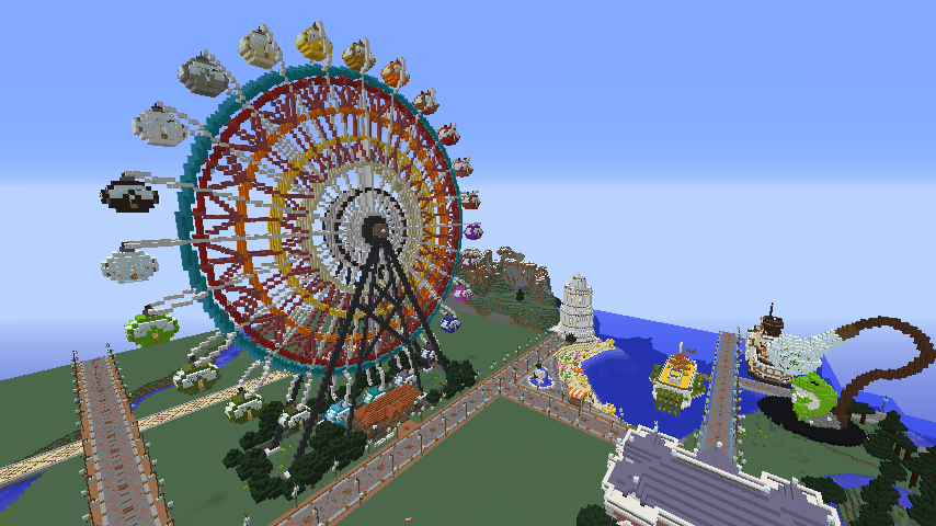 Minecrafterししゃもがマインクラフトで横浜港開港記念会館をモデルに記念館を建てる1