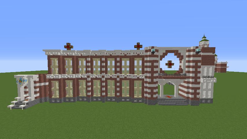 Minecrafterししゃもがマインクラフトで横浜港開港記念会館をモデルに記念館を建てる3