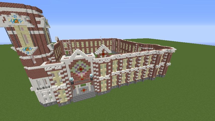 Minecrafterししゃもがマインクラフトで横浜港開港記念会館をモデルに記念館を建てる4