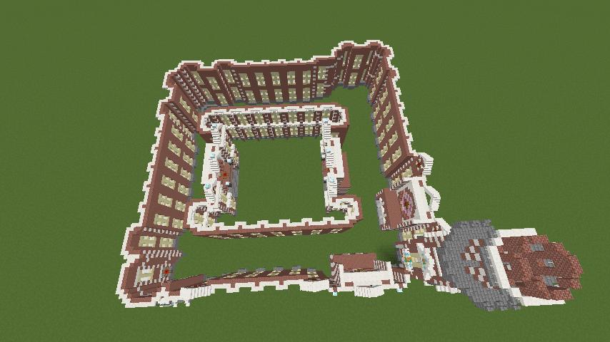 Minecrafterししゃもがマインクラフトで横浜港開港記念会館をモデルに記念館を建てる5