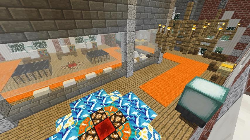 Minecrafterししゃもがマインクラフトで南港に旧御所水道ポンプ室をモデルにしたチケット売り場を作る11