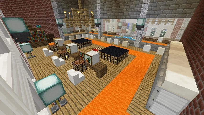 Minecrafterししゃもがマインクラフトで南港に旧御所水道ポンプ室をモデルにしたチケット売り場を作る13