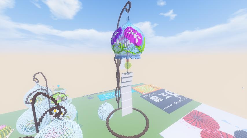 Minecrafterししゃもがマインクラフトで南港に風鈴をつくる