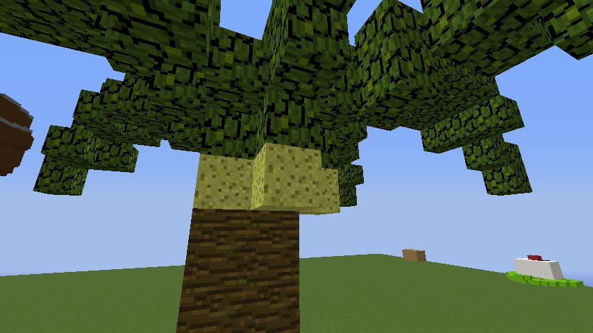 うきうきさんとにゃろりくんが簡単なのにリアルなヤシの木のつくり方を紹介する17