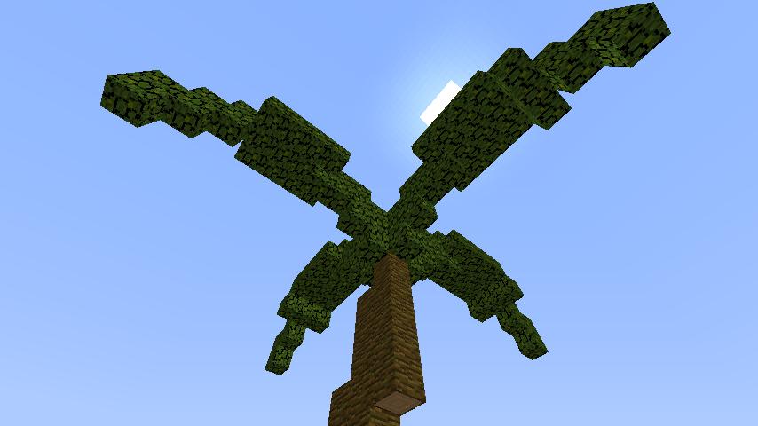 うきうきさんとにゃろりくんが簡単なのにリアルなヤシの木のつくり方を紹介する10