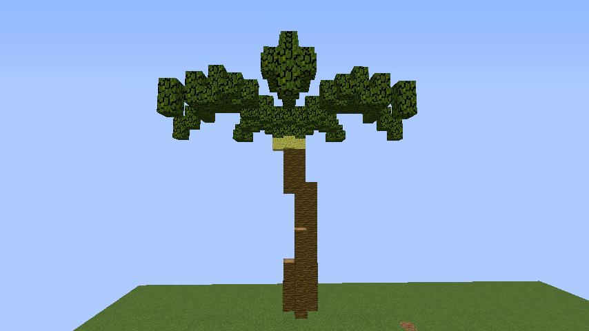 うきうきさんとにゃろりくんが簡単なのにリアルなヤシの木のつくり方を紹介する18