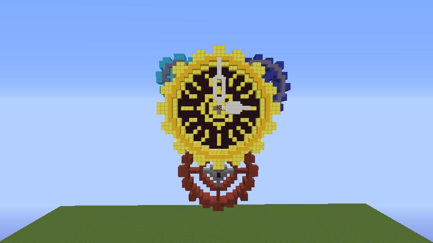 Minecrafterししゃもがマインクラフトでぷっこ村に入船山時計塔をモデルに小さな時計塔を建築する4