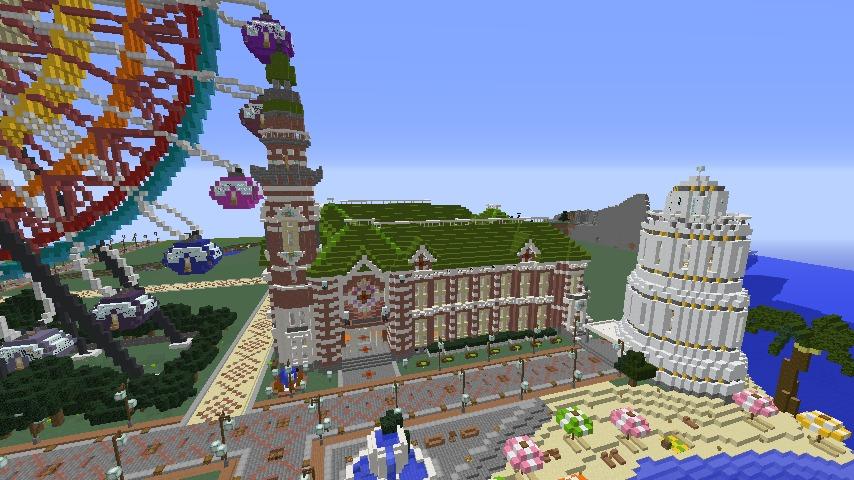 Minecrafterししゃもがマインクラフトで横浜港開港記念会館をモデルに記念館を建てる7