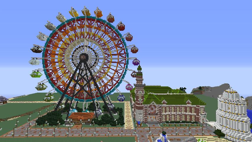 Minecrafterししゃもがマインクラフトで横浜港開港記念会館をモデルに記念館を建てる9