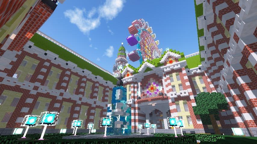 Minecrafterししゃもがマインクラフトで横浜港開港記念会館をモデルに記念館を建てる11