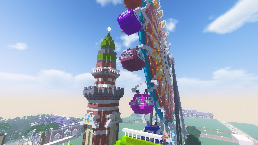 Minecrafterししゃもがマインクラフトで横浜港開港記念会館をモデルに記念館を建てる12