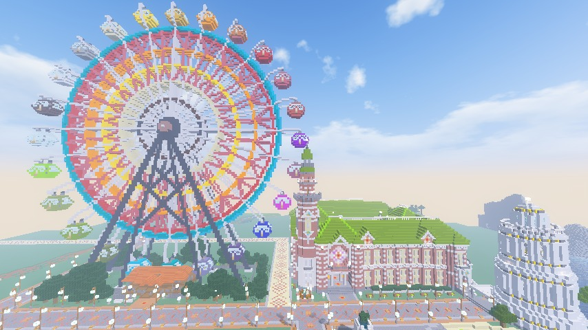 Minecrafterししゃもがマインクラフトで横浜港開港記念会館をモデルに記念館を建てる14
