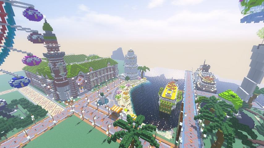 Minecrafterししゃもがマインクラフトで横浜港開港記念会館をモデルに記念館を建てる13