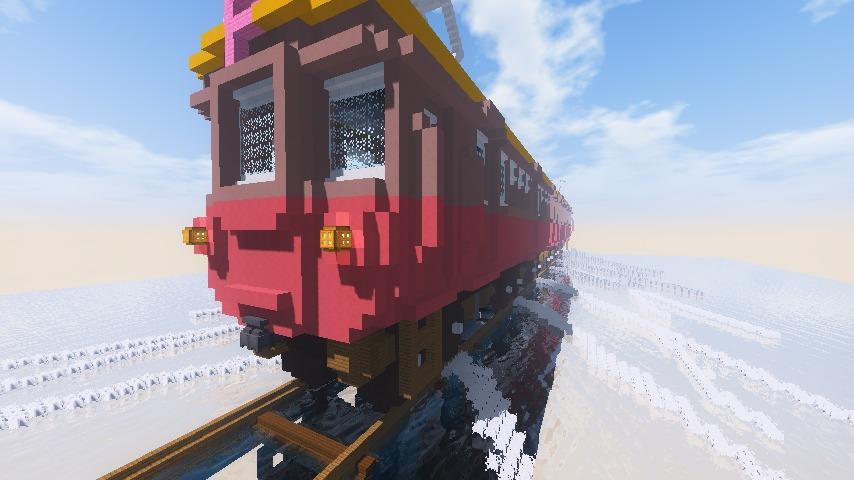 Minecrafterししゃもがマインクラフトでぷっこ村にデハ800系を作る5