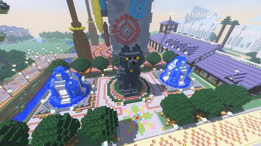 Minecrafterししゃもがマインクラフトでぷっこ村に入船山時計塔をモデルに小さな時計塔を建築する10