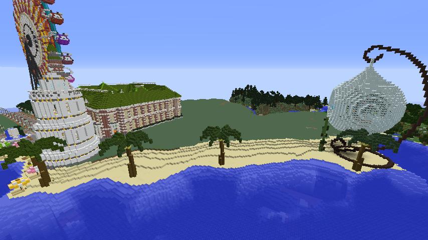 Minecrafterししゃもがマインクラフトでぷっこ村の浜辺を整備してみる9